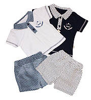 Комплект летний на мальчика Стиль  (шорты, футболка)  62, 68, 74 см  Турция