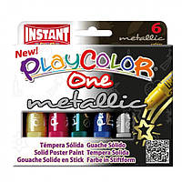 Краска-маркер INSTANT Playcolor 10321 One metalli 6 цветов, фото 1