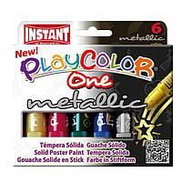 Краска-маркер INSTANT Playcolor 10321 One metalli 6 цветов