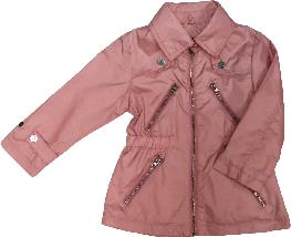Демисезонная куртка ветровка для девочки ТМ Verscon розовая размер 92 98 104 110 116, фото 3