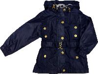 Демисезонная куртка ветровка с капюшоном для девочки Gocux kids club синяя размер 92 98