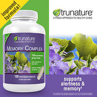 Trunature® Комплекс для Мозга и Памяти с Гинкго  Билоба, Винпоцетин и Гиперзин А, 120 капсул