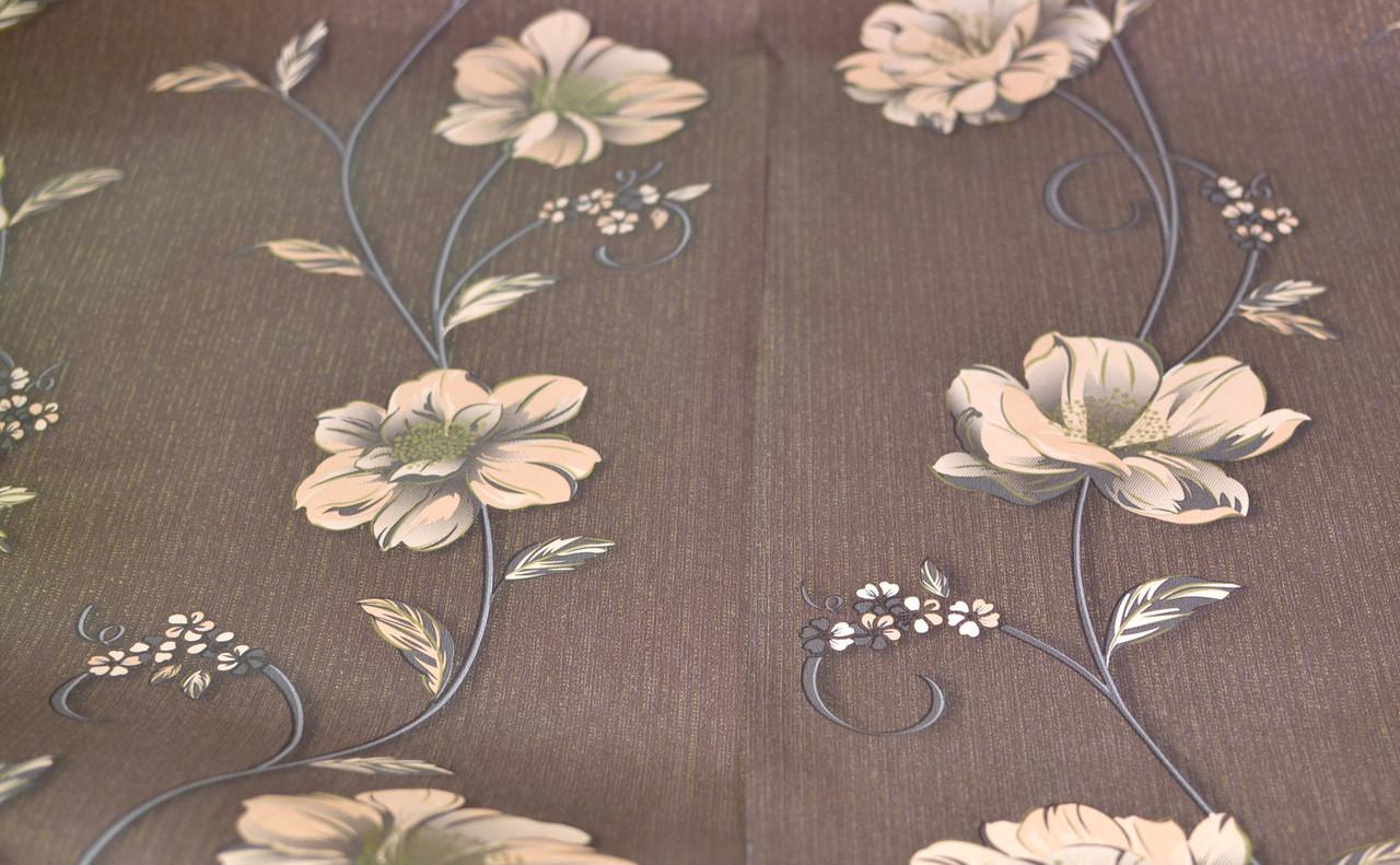 Обои бумажные, крупный рисунок, цветы, Деми 1262, 0,53*10м