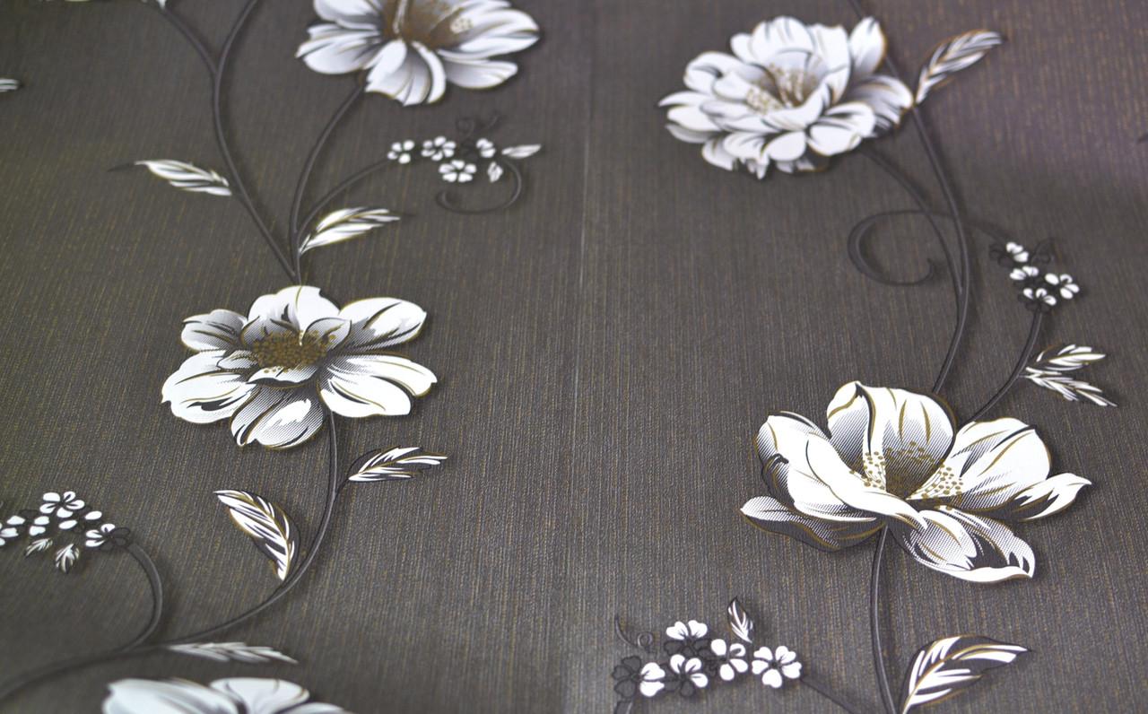 Обои бумажные, крупные цветы, Деми 1261, 0,53*10м
