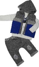 Весенняя жилетка для мальчика + реглан + штаны (комплект) Hippil Baby размер 74 80 86 92