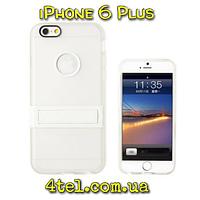 Чехол для IPhone 6 Plus, бампер с подставкой, Candy, белый