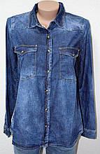 Рубашки джинсовые женские 0125-02
