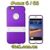 Чехол для iPhone 6 / 6S, бампер с подставкой, Candy, сиреневый