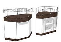 Прилавок- витрина торговый угловой 4-03 (УВБ)