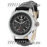 Часы мужские наручные Breitling for Bentley Black-Silver-Black