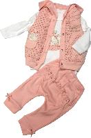 Костюм весенний на девочку Hippil baby (жилетка, штанишки, реглан) размер 74 80 86 92