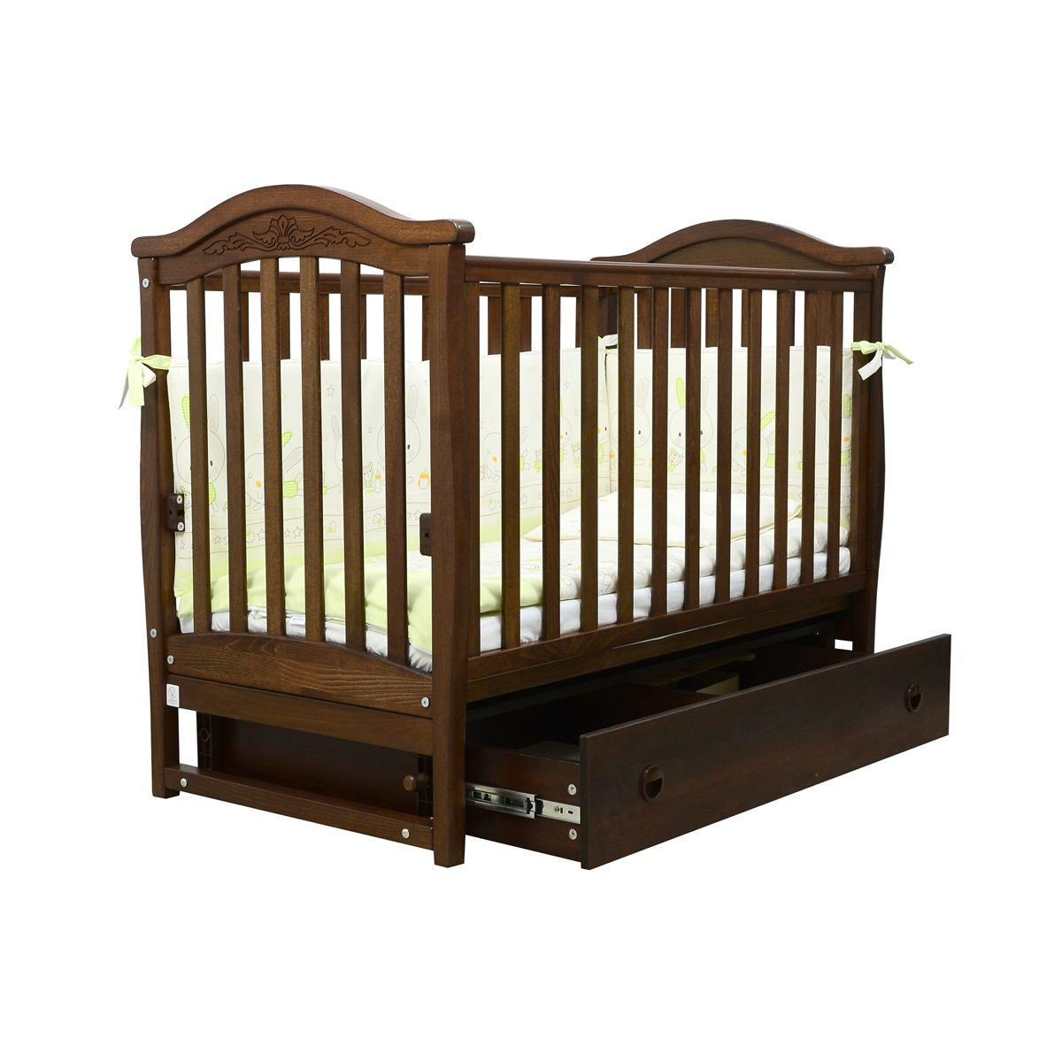 Кроватка детская Верес Соня ЛД-3 орех с маятником
