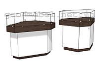 Прилавок-витрина торговый угловой 4-04 (УНБ)