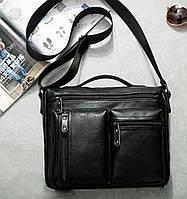 Стильная и удобная мужская сумка через плечо с ручкой
