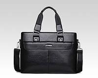 Мужская сумка-портфель из экокожи. Уценка