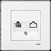 VIKO Karre Розетка телефонная (RJ11)  Белый (90960013)