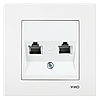 VIKO Karre Розетка телефонная двойная (2 X RJ11)  Белый (90960033)