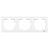 VIKO Karre Тройная горизонтальная рамка  Белый (90960222)