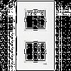 VIKO Karre Двойная вертикальная рамка  Белый (90960201)