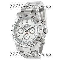 Часы мужские наручные Rolex Daytona AAA Mechanic Silver-White