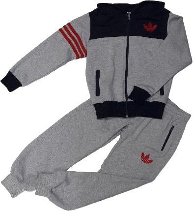 Спортивный костюм Adidas на мальчика, Индонезия, серый, размер 116-128, фото 2