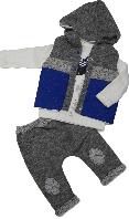 Костюм весенний на мальчика Hippil Baby (жилетка, реглан, штаны) размер 74 80 86 92