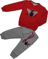 Костюм весенний трикотажный на мальчика ARMANI  (реглан+штаны) красный размер 86 92