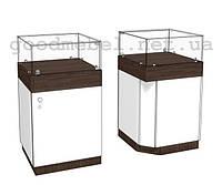 Прилавок-витрина торговый угловой 4-05 (УВ)