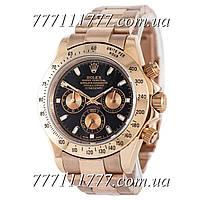Часы мужские наручные Rolex Cosmograph Daytona AAA Rose Gold-Black-Rose Gold