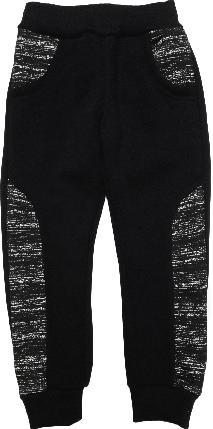 Штаны спортивные на мальчика с начесом ТМ New Point черные размер 122, фото 2