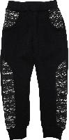 Штаны спортивные на мальчика с начесом ТМ New Point черные размер 122