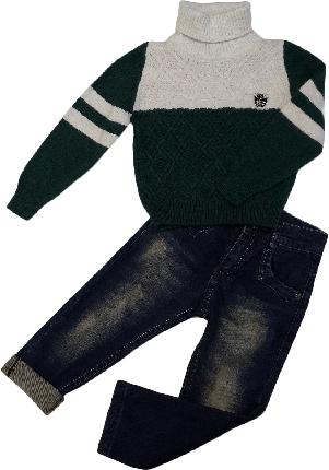 Свитер детский для мальчика шерсть размер 86, фото 2