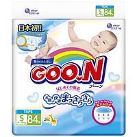 GooN Подгузники Goo.N - S (4-8 кг), 84 шт./уп.