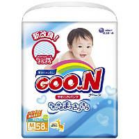 GooN Подгузники Goo.N - M (7-12 кг), 58 шт./уп.