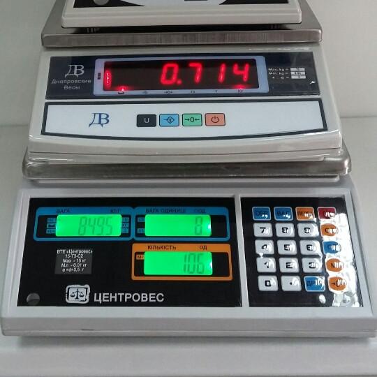 Рахункові ваги ВТЕ-Т3С2 15кг (280*230мм)