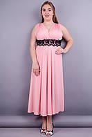 Грация. Нарядное платье больших размеров. Розовый., фото 1