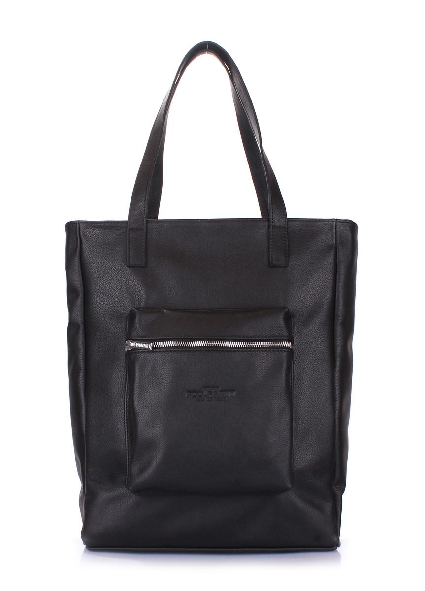 5b9ec15f8143 Кожаная сумка Poolparty Spirit Black, цена 1 825 грн., купить в ...