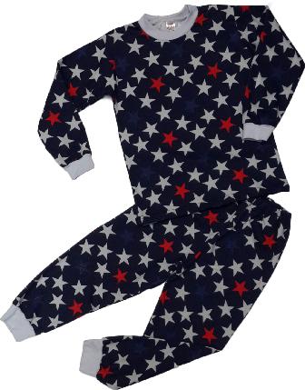 Пижама для мальчика с начесом ТМ Татошка ( арт. 01202 ) синяя размер 128, фото 2