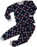 Пижама для мальчика с начесом ТМ Татошка ( арт. 01202 ) синяя размер 128