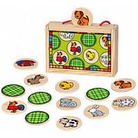 Bino Настольная игра Bino Найди пару. Животные (84041)