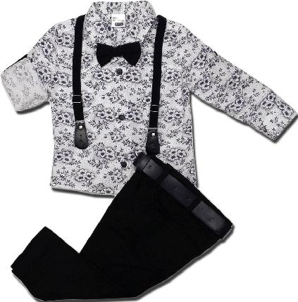 Нарядный костюм с бабочкой для мальчика ТМ Minimen (рубашка, джинсы) размер 86, фото 2