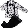 Нарядный костюм с бабочкой для мальчика ТМ Minimen (рубашка, джинсы) размер 86