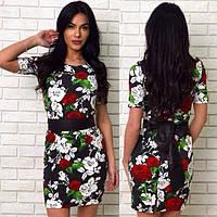 Платье с красивым цветочным узором