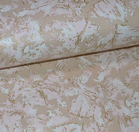 Обои, на стену, под мрамор, бежевый,  бумажные Влагостойкие ,493-02, 0,53*10м, фото 2