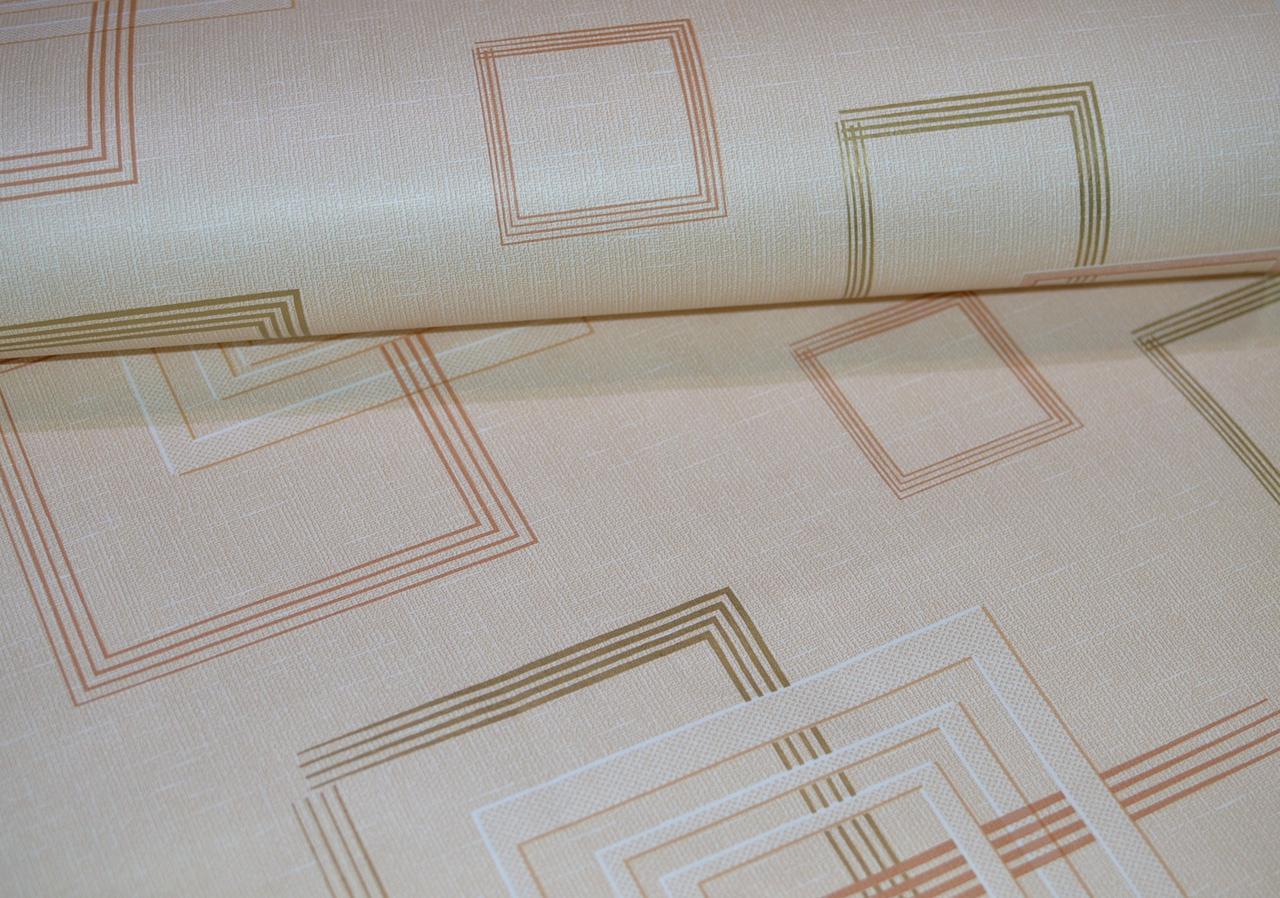 Обои, бумажные, квадраты, светлый, рисунок,  Джем 1256, 0,53*10м