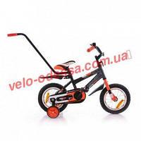 """Детский двухколесный велосипед с родительской ручкой STITCH """"А"""" РУ 14 дюймов"""