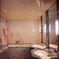 Натяжной потолок в ванной, фото 1