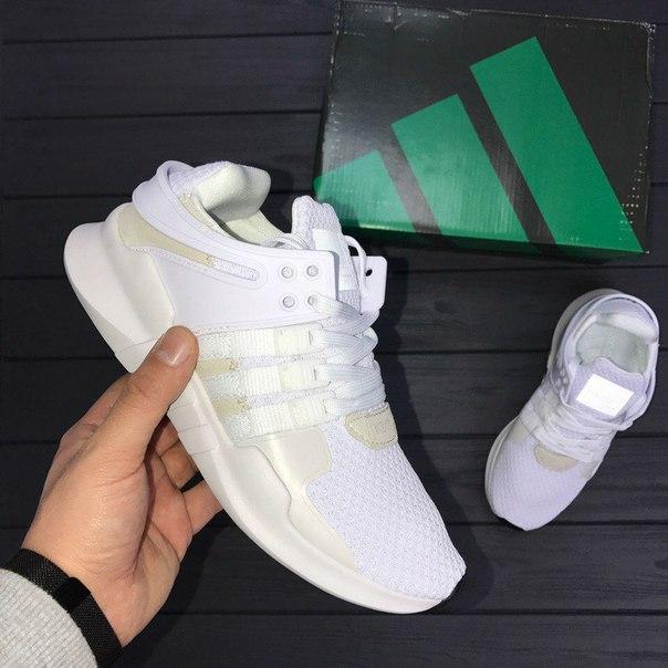 Женские кроссовки Adidas Equipment White белые топ реплика