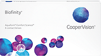 Контактные линзы на месяц Cooper Vision Biofinity