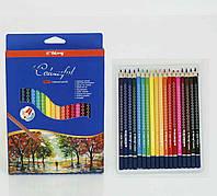 Цветные карандаши набор 18 шт